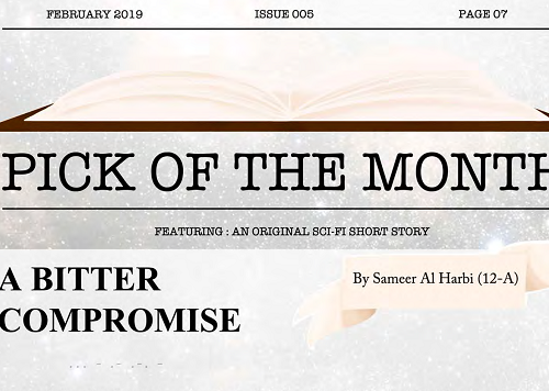 PICK OF THE MONTH, A Bitter Compromise (A Sci-fi Short Story)