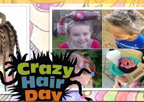 SPOTTED AND REPORTED, Crazy Hair Day!